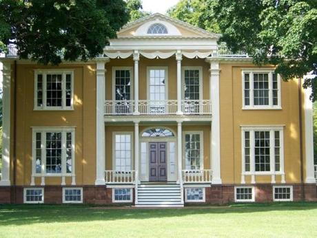 The 1804 Federal mansion at Boscobel was moved to Cold Spring and restored when it faced demolition in the 1950s.